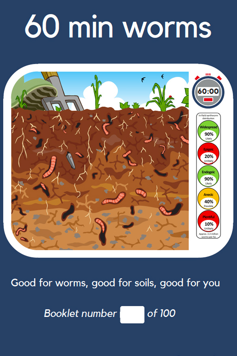 60 Min Worms  Credit: Jackie Stroud/Rothamsted Research