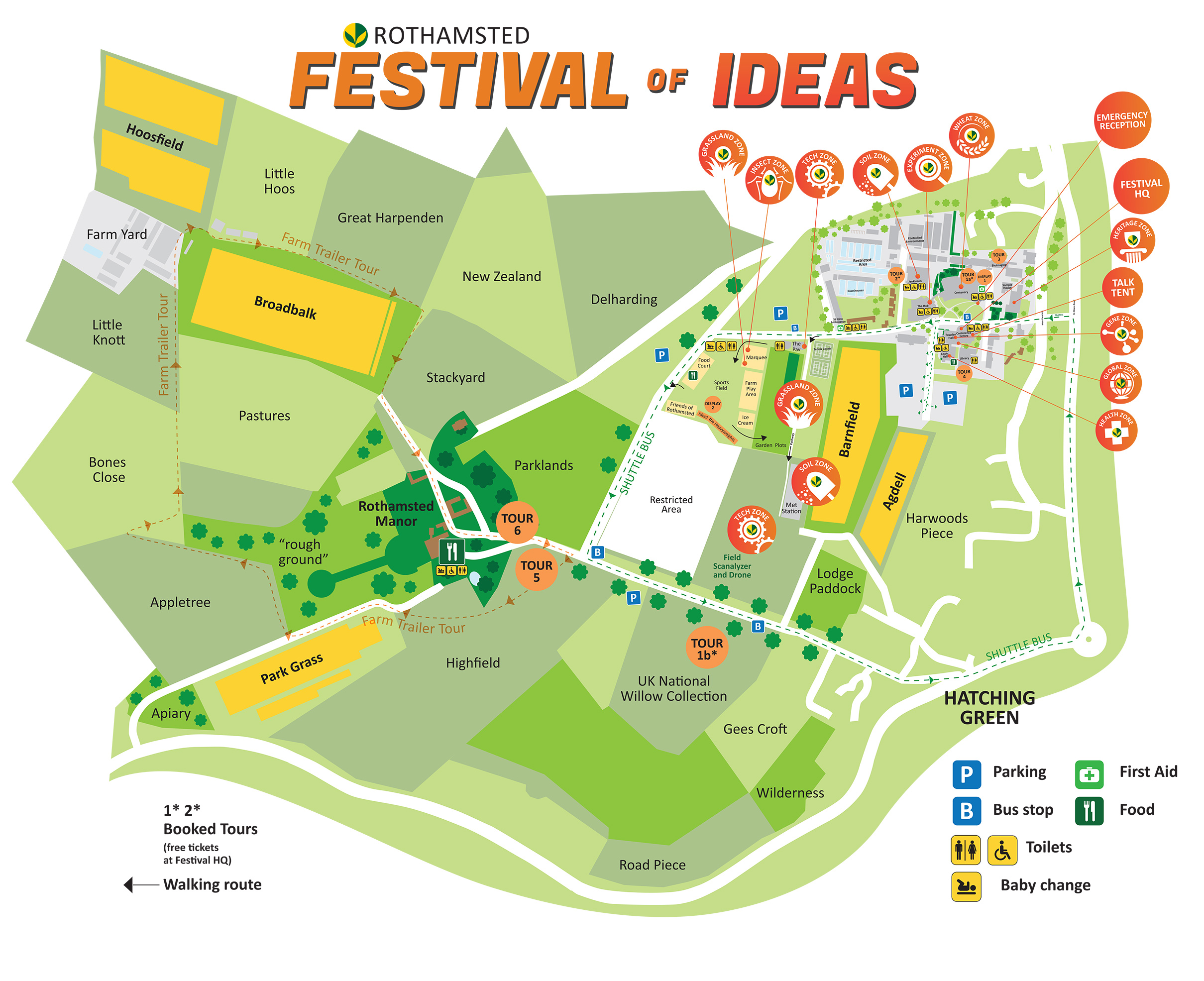 Rothamsted Festival of Ideas Map