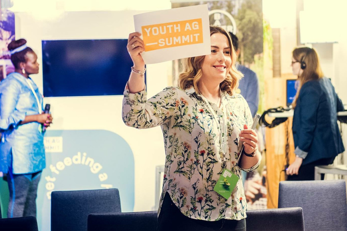 Laura James. Rothamsted Research. Youth Agricultural Summit 2017. Credit: Youth Ag-Summit
