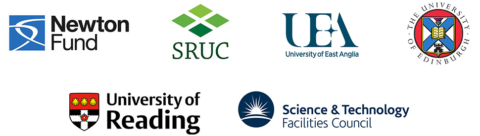 Newton fund, UEA. Science & Technology Facilities Council, SRUC, University of Reading, The University of Edinburgh