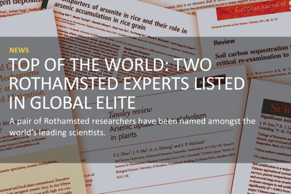 Rothamsted News - Most Cited Researchers