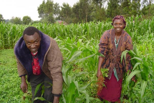 Lilian and John Wangombe